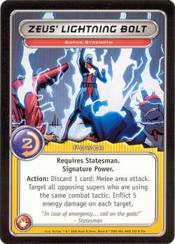 CCG A 303 Zeus Lightning Bolt
